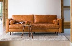 Sven Leather Sofa
