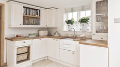 Classic country kitchen with wooden worktops