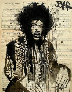 """""""jimi"""" by Loui Jover; Pen and Ink  Drawing"""