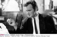 Quentin Tarantino / Reservoir Dogs / 1992 directed by Quentin Tarantino [Miramax Films] --  1992 Actor Black And White Cinema Crime Film DirectorPeople Quentin Tarantino Reservoir Dogs Thriller