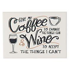 "Coffee Plaque, 11"" x 8"" - Gordmans"