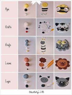 My Owl Barn: tutorial fondant animal cupcake toppers Cupcake Tier, Diy Cupcake, Cupcake Cakes, Vintage Cupcake, Car Cakes, Rose Cupcake, Fondant Toppers, Fondant Cupcakes, Fondant Baby