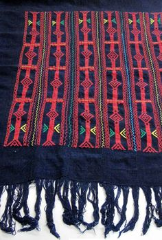 Africa | Detail from a Wedding Cloth (Lower body wrapper) from the Dogon people of Mali | ca. 1940 - 1970 | Cotton