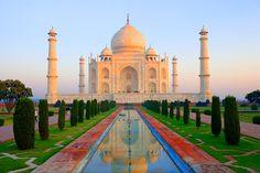 Taj Mahal at sunrise, Agra, India