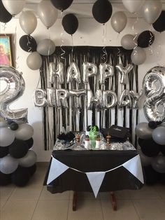 Beautiful birthday decorations at home. DM for booking . Beautiful birthday decorations at home. DM for booking . 21st Birthday Cakes, Happy Birthday Balloons, Birthday Party Themes, 21st Cake, Birthday Gifts, Diy Birthday, Bowtie Birthday Party, 25th Birthday Ideas For Him, Birthday Wishes