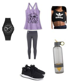 """""""Untitled #110"""" by ana-gabriela02 on Polyvore featuring adidas, New Balance and GUESS"""