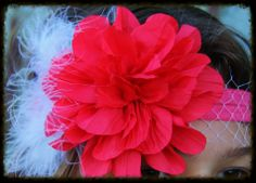 The Classy Claire Headband- Red sparkleinpink.com Custom Headbands, Claire, Pink, Red, Accessories, Jewelry, Jewlery, Bijoux, Schmuck