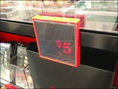 Sephora Bar Mount Sign Frame in Vivid Red – Fixtures Close Up Price Signage, Sale Signage, Retail Signage, Plastic Signs, Retail Merchandising, Store Displays, Plexus Products, Sephora, Branding