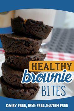 Clean Eating Dessert - Healthy Brownies made bite size - DairyFree, Gluten Free, Vegan Option
