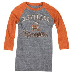 Cleveland Browns Women's Take Back Tri-Blend 3/4 Sleeve Raglan T-Shirt