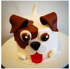 Puppy Birthday Cakes, Puppy Birthday Parties, Themed Birthday Cakes, Birthday Cake Girls, Dog Birthday, Themed Cakes, Bolo Lego, Dog Cake Recipes, Puppy Cake