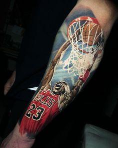 Michael Jordan tattoo by Steve Butchertattoos
