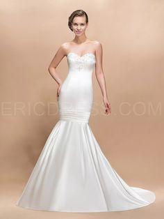 Nwd57 2015 Fashionable Of Bride Lace Satin Mermaid Wedding Dress Fish Tail Plus Size Custom Made 2016 Bridal Gown Dresses Mermaid Lace Dress Sweetheart Mermaid Wedding Dress From Vanie, $120.61| Dhgate.Com