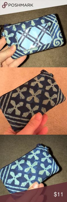 Vera Bradley ID Case Vera Bradley ID Case. Is in good condition, but does have a few water stains and shows sign of wear with dirt. (As pictured) (Also, in my opinion the wear gives the case a better look) The stains aren't too noticeable though. Vera Bradley Bags