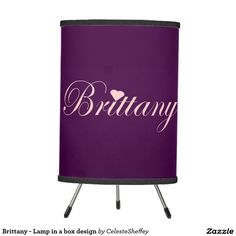 Brittany's personalized Tripod table Lamp