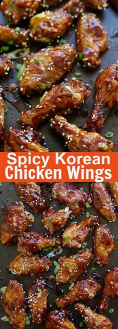 Spicy Korean Chicken Wings - sticky and addictive Korean chicken wings with sweet and savory Korean red pepper sauce. Finger lickin' good   rasamalaysia.com