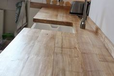New Diy Kitchen Worktop Wood Ideas Wood Patio Chairs, Desk Chairs, Belfast Sink, Reclaimed Wood Furniture, Pallet Furniture, Furniture Plans, Bedroom Furniture, Country Kitchen, Kitchen Wood