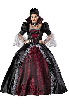 Select Plus Size Halloween Costumes for Women here. Enjoy your Halloween evening in a comfortable Halloween Costume for Plus Size party goers. Find great ideas and deals here. Horror Halloween Costumes, Vampire Costumes, Halloween Cosplay, Halloween Outfits, Cosplay Costumes, Witch Costumes, Buy Cosplay, Halloween Fashion, Plus Size Halloween