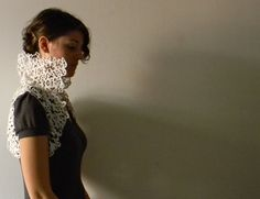 Who would ever guess this elegant, lacy vest is made of fused plastic bags? Not me!