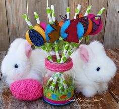 Decorative Easter Straws and Holder