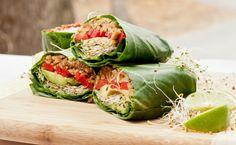 raw vegan collard wraps