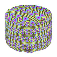 A colorful and trendy pattern the give the product a stylish and modern looks with this decorative and abstract looks. You can also customize it to get a more personal look. Ottoman Design, Poufs, Abstract Pattern, Colorful, Shapes, Texture, Diamond, Stylish, Unique
