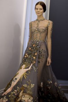 Valentino - Couture Spring 2014 Kevin Tachman / BackstageAt More images: http://www.vogue.com/fashion-week/spring-2014-couture/valentino/backstage/