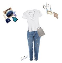 """Untitled #470"" by kim-smith-i on Polyvore featuring Topshop, Converse, Michael Kors, Olivia Burton, MANGO, Vanzi, Versace and H&M"