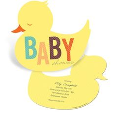 Duck Baby Shower Invitations -- Baby Duckling