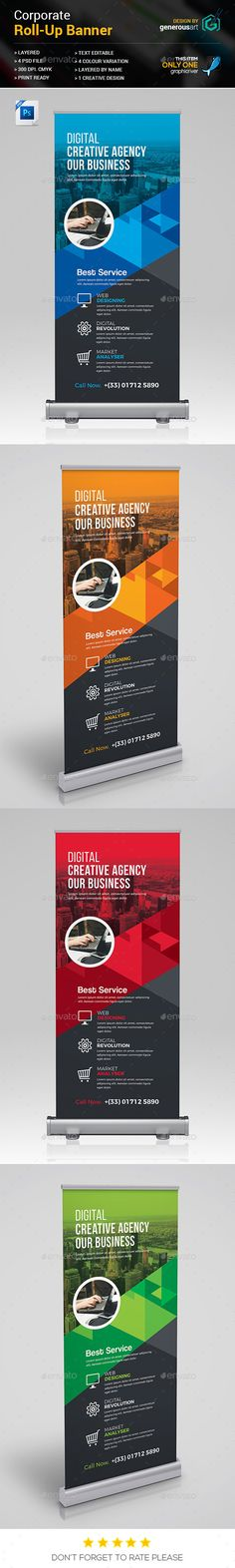 #Roll-up Banner - #Signage Print Templates Download here:    https://graphicriver.net/item/rollup-banner/20335976?ref=suz_562geid
