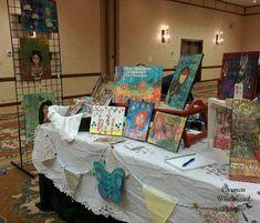 Coming Full Circle - Carmen Whitehead Designs Craft Booth Displays, Display Ideas, Market Day Ideas, Artist Alley, Art Walk, Artwork Display, Business Inspiration, Craft Shop, Art Festival