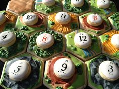 Settlers of Catan cookies. After you're done playing you can eat it! I hate myself for not going this.