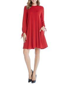 Karen Kane Tie-Sleeve Swing Dress
