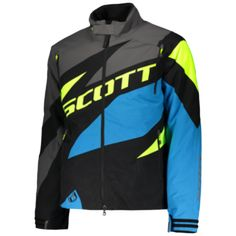 Scott COMPR Jackets (BLK/BLU). *DRYOsphere Technology**Insulation 160g**Removable Lining**SnowCuff* Insulation, Motorcycle Jacket, How To Remove, Snow, Technology, Jackets, Fashion, Down Jackets, Moda