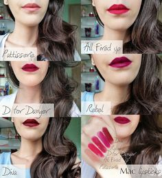 Mateja's Beauty Blog: MAC Lipstick Samples from The Body Needs #3 (Patisserie, All Fired up, D for Danger, Rebel and Diva)