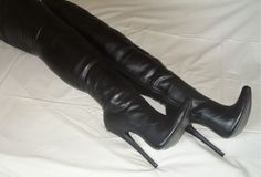 Extreme High Heels, Sexy High Heels, Thigh High Boots Heels, Heeled Boots, Beige Boots, Lady Biker, Sexy Boots, Thigh Highs, Leather Boots