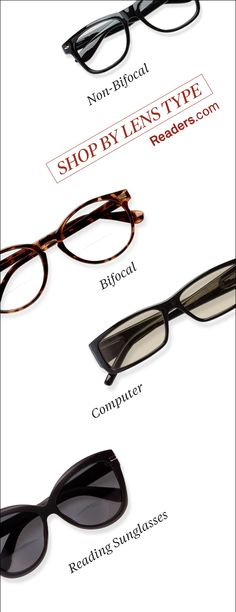 Choose from non-bifocal reading glasses, bifocal reading glasses, reading sunglasses and computer readers. Hundreds of styles in powers from +1.00 to +6.00 -- All under $20! Shop Readers.com >