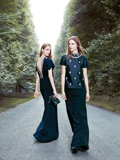 tory burch holiday1 Zuzanna Bijoch, Tilda Lindstam & Laura Kampman for Tory Burch Holiday 2013 Campaign