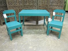 children's table and chairs #nadeau