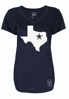 Dallas Cowboys Women's Navy State of Mind T-Shirt http://www.rallyhouse.com/shop/dallas-cowboys-41021042?utm_source=pinterest&utm_medium=social&utm_campaign=Pinterest-DallasCowboys $34.99