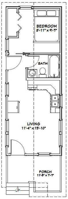 20x30 single story floor plan one bedroom small house for 10 x 18 square feet