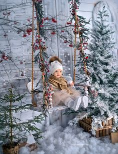 Ideas Baby Photoshoot Props Children For 2019 Christmas Backdrops, Christmas Portraits, Christmas Decorations, Holiday Decor, Photography Settings, Holiday Photography, Photography Props, Christmas Background Photography, Christmas Photography Kids