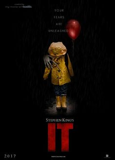 It Horror Thriller. Looking forward to this. In a small town in Maine, seven children known as The Losers Club come face to face with life problems, bullies and a monster that takes the shape of a clown called Pennywise. Best Horror Movies, Horror Movie Posters, Scary Movies, Good Movies, Horror Books, Halloween Movies, Halloween Horror, Art It, Es Pennywise