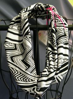 Black and white abstract cowl...