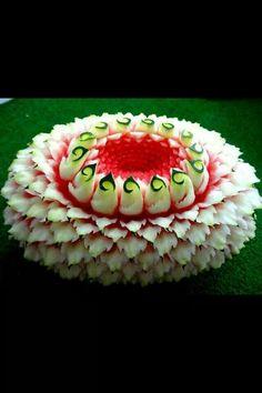Escultura em melancia