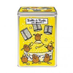 Plåtburk potatispulver gul. Ååååå!!!