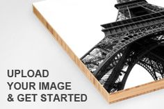 Upload photos to wood panels. Nice!