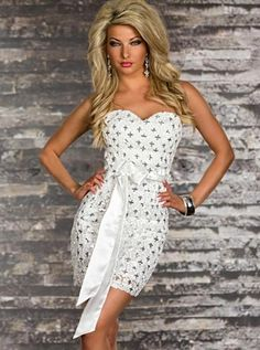 3ed11c8707 Decoration: Sequined Waistline: Empire Material: Polyester,Spandex Sleeve  Style: Regular Dresses