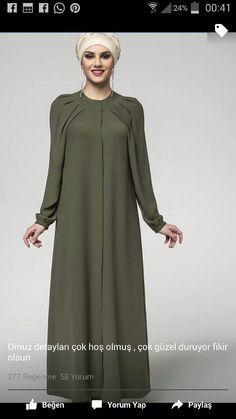 Güzel , #güzel , #güzel Hijab Style Dress, Hijab Chic, Islamic Fashion, Muslim Fashion, Abaya Fashion, Fashion Dresses, Muslim Long Dress, Mode Abaya, Modele Hijab