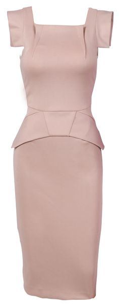 'Bey' Nude High Neck Galaxy Pencil Dress